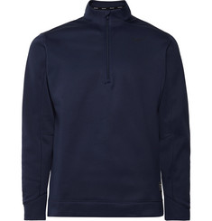 Nike Golf - Therma Fleece-Back Jersey Half-Zip Golf Top