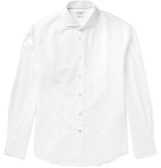 Brunello Cucinelli Slim-Fit Cutaway-Collar Cotton-Poplin Shirt