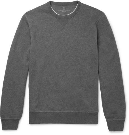 Cotton Jersey Sweatshirt by Brunello Cucinelli