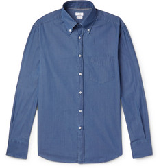Brunello Cucinelli Slim-Fit Button-Down Collar Cotton-Chambray Shirt