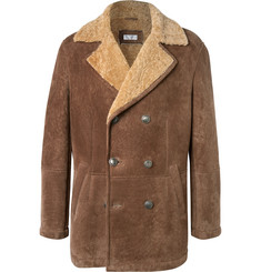 Brunello Cucinelli Shearling Peacoat