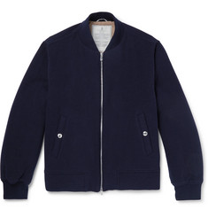 Brunello Cucinelli Wool and Cashmere-Blend Bomber Jacket