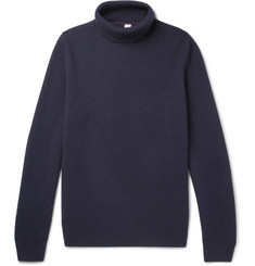 Brunello Cucinelli Ribbed Wool, Cashmere and Silk-Blend Rollneck Sweater
