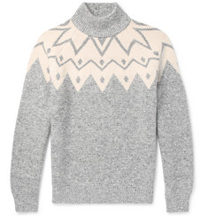 Brunello Cucinelli Fair Isle Wool-Blend Sweater