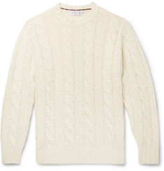 Brunello Cucinelli Cable-Knit Alpaca-Blend Sweater