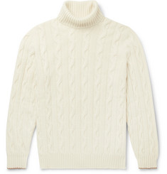 Brunello Cucinelli Cable-Knit Cashmere Rollneck Sweater