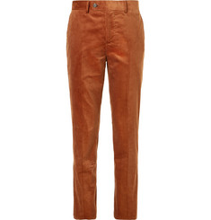 Brunello Cucinelli Brick Sea Island Cotton-Corduroy Suit Trousers
