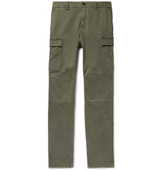 Brunello Cucinelli Herringbone Stretch-Cotton Cargo Trousers