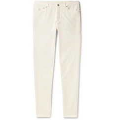 Brunello Cucinelli Slim-Fit Stretch-Cotton Corduroy Trousers