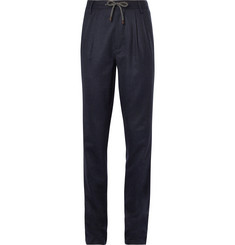 Brunello Cucinelli - Wool-Flannel Drawstring Trousers