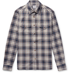 Brunello Cucinelli Checked Cotton Western Shirt