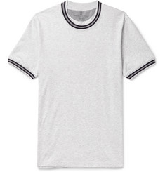 Brunello Cucinelli Slim-Fit Stripe-Trimmed Mélange Cotton-Jersey T-Shirt
