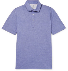 Brunello Cucinelli - Slim-Fit Mélange Cotton Polo Shirt