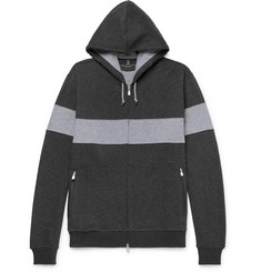 Brunello Cucinelli Striped Cotton-Blend Jersey Zip-Up Hoodie