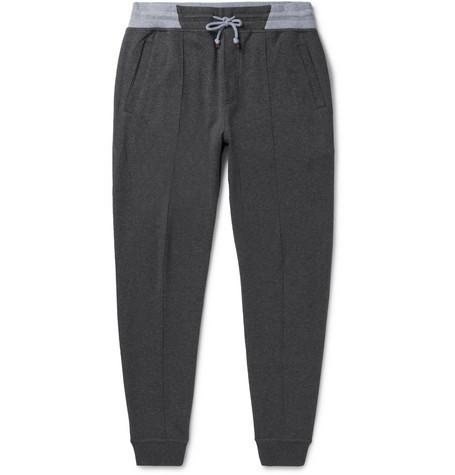 Tapered Cotton-blend Jersey Sweatpants Brunello Cucinelli BKChjxX