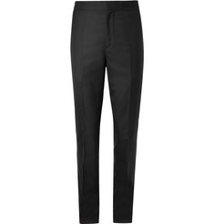 Brunello Cucinelli - Cotton and Satin-Trimmed Wool and Silk-Blend Tuxedo Trousers
