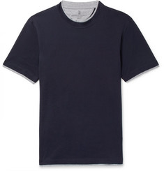 Brunello Cucinelli - Slim-Fit Layered Cotton-Jersey T-Shirt