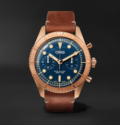 Oris - Carl Brashear Chronograph 43mm Burnished Bronze and Leather Watch