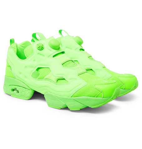+ Reebok Instapump Fury Neon Slip-on Sneakers - Green