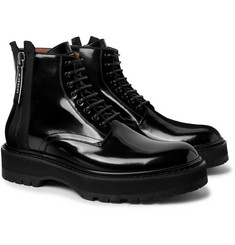 Givenchy - Camden Patent-Leather Boots