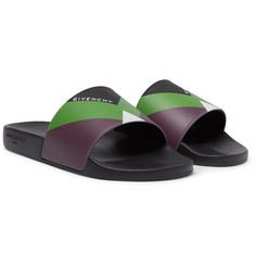 Givenchy - Logo-Print Colour-Block Rubber Slides