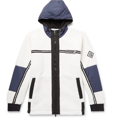 Shell Trimmed Fleece Jacket by Givenchy