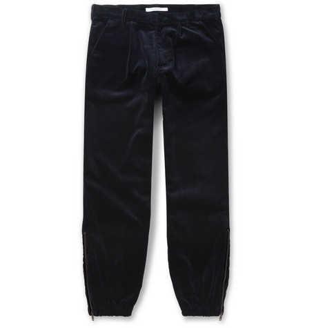 Tapered Cotton-corduroy Trousers