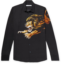 Givenchy - Printed Matte-Satin Shirt
