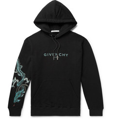 Givenchy Printed Loopback Cotton-Jersey Hoodie