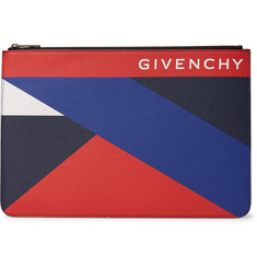 Givenchy - Colour-Block Pebble-Grain Leather Pouch