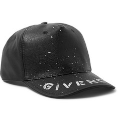Givenchy Logo-Print Leather Baseball Cap