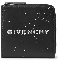Givenchy Gravity Logo-Print Leather Zip-Around Wallet