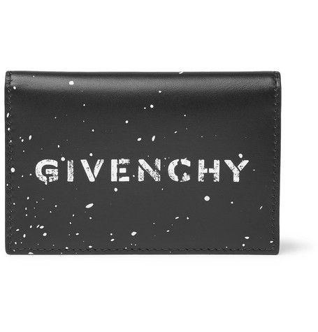 Gravity Logo Print Leather Bifold Cardholder by Givenchy