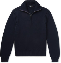 Dunhill Wool Half-Zip Sweater