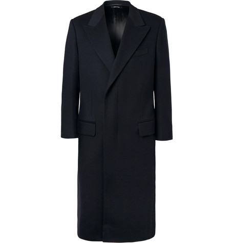 Wool And Cashmere blend Overcoat Dunhill Navy qq1rdn