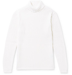 Dunhill Slim-Fit Ribbed Merino Wool Rollneck Sweater