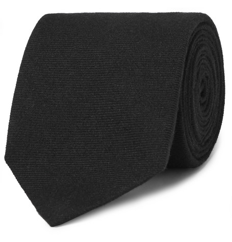 8cm Cashmere And Mulberry Silk Blend Twill Tie by Dunhill