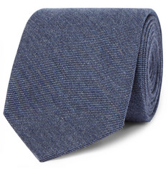 Dunhill 8cm Cashmere and Mulberry Silk-Blend Twill Tie