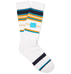 Acne Studios Striped Stretch Cotton-Blend Socks