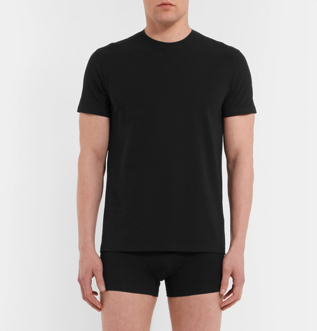 Edvin Stretch Cotton Jersey T Shirt by Acne Studios