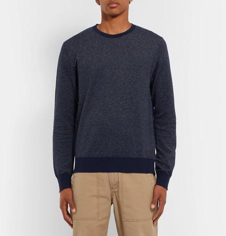 dd21c39ba5060d Shoptagr | Mélange Cotton Piqué And Cashmere Blend Sweater by J.Crew