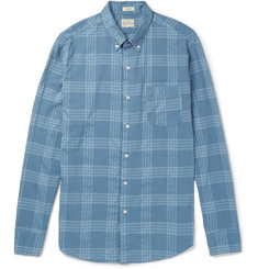 J.Crew Button-Down Collar Checked Cotton-Blend Shirt