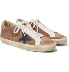 Golden Goose Deluxe Brand - Superstar Distressed Suede and Leather Sneakers
