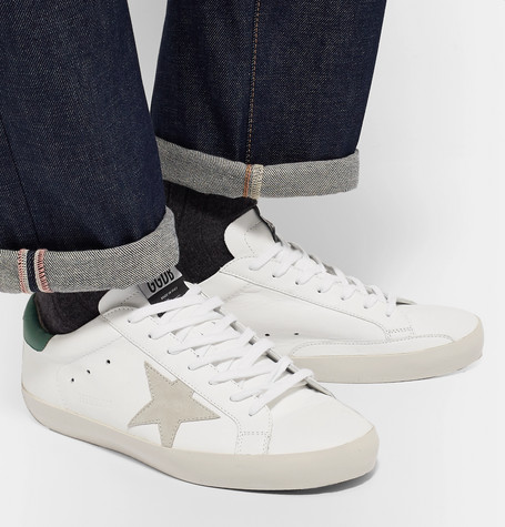 Superstar Leather And Suede Sneakers by Golden Goose Deluxe Brand