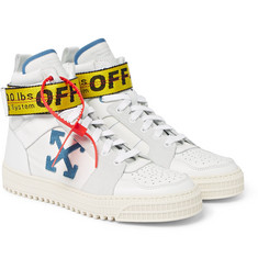 Off-White - Industrial Leather, Suede and Ripstop High-Top Sneakers