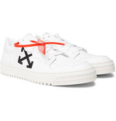Off-White - 3.0 Polo Suede-Trimmed Leather Sneakers