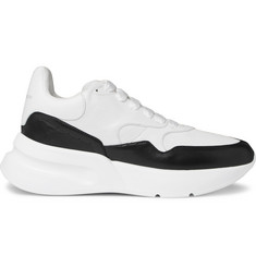 Alexander McQueen Exaggerated-Sole Leather and Mesh Sneakers
