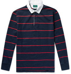 J.Crew Twill-Trimmed Striped Cotton-Jersey Polo Shirt