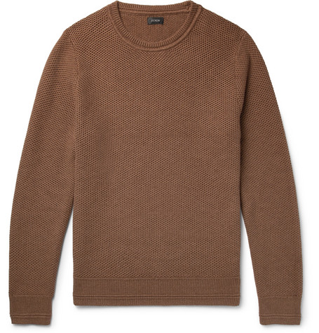 Honeycomb Knit Cotton Sweater by J.Crew