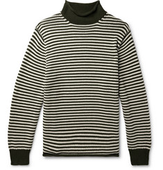 J.Crew Striped Cotton Rollneck Sweater